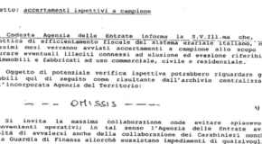 """Falsa lettera dell'Agenzia delle Entrate: """"Accertamenti ispettivi a campione"""""""