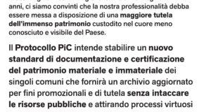 Palomonte, martedì 30 gennaio presentazione del progetto PIC – Patrimonio In Comune