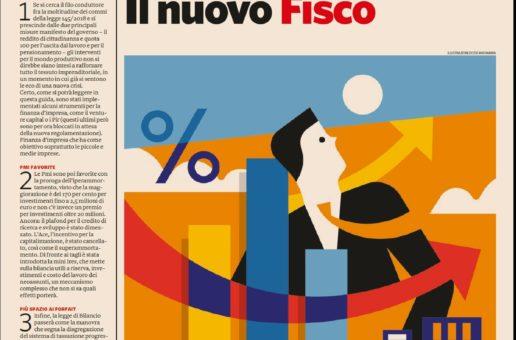 """Il focus """"Forfait, Ires e sconti. Il nuovo Fisco"""" del Sole 24 ORE"""